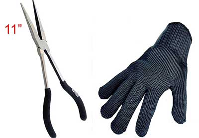 Long-nose-pike-unhooking-pliers-and-glove