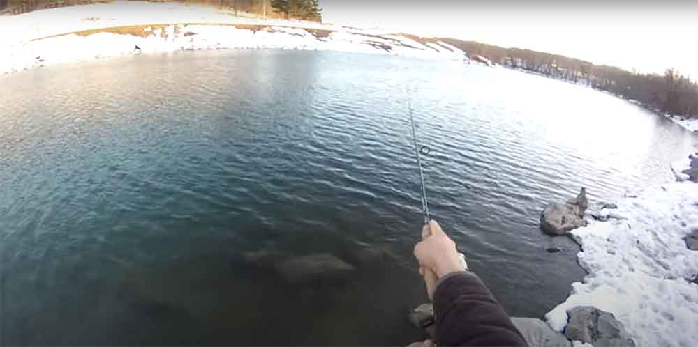 Catching Pike on Lures in Winter